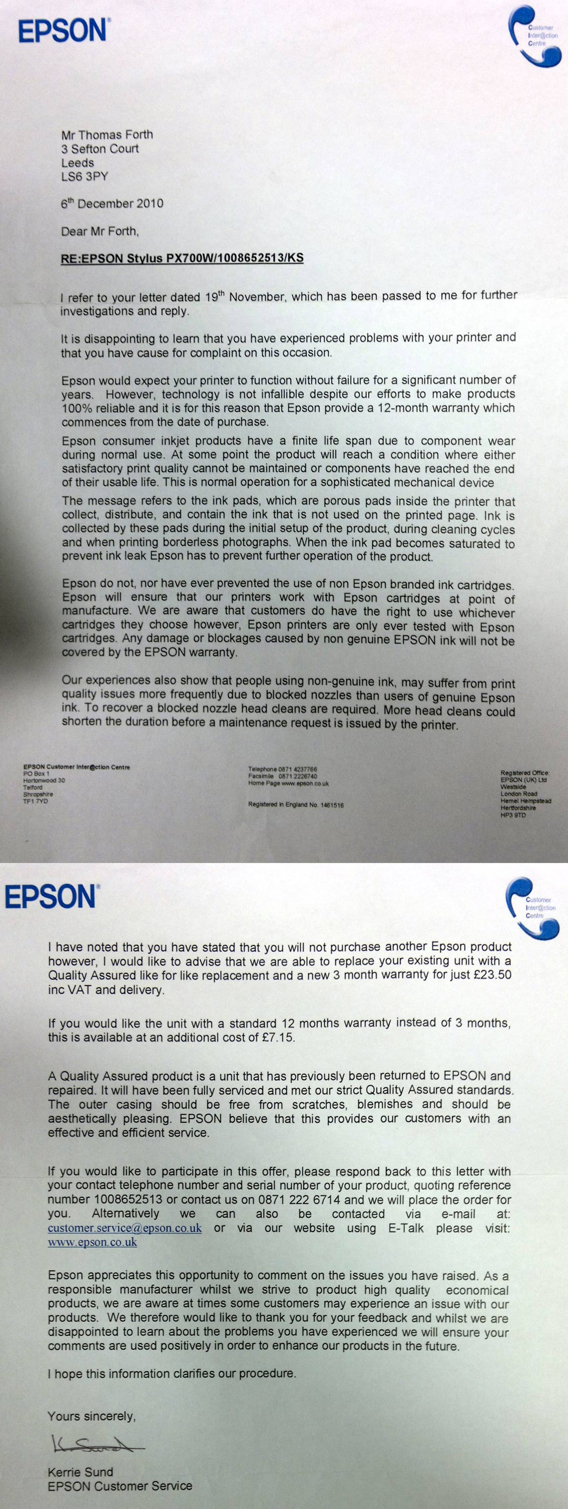 Epson Waste Ink Resetter for px700w and similar