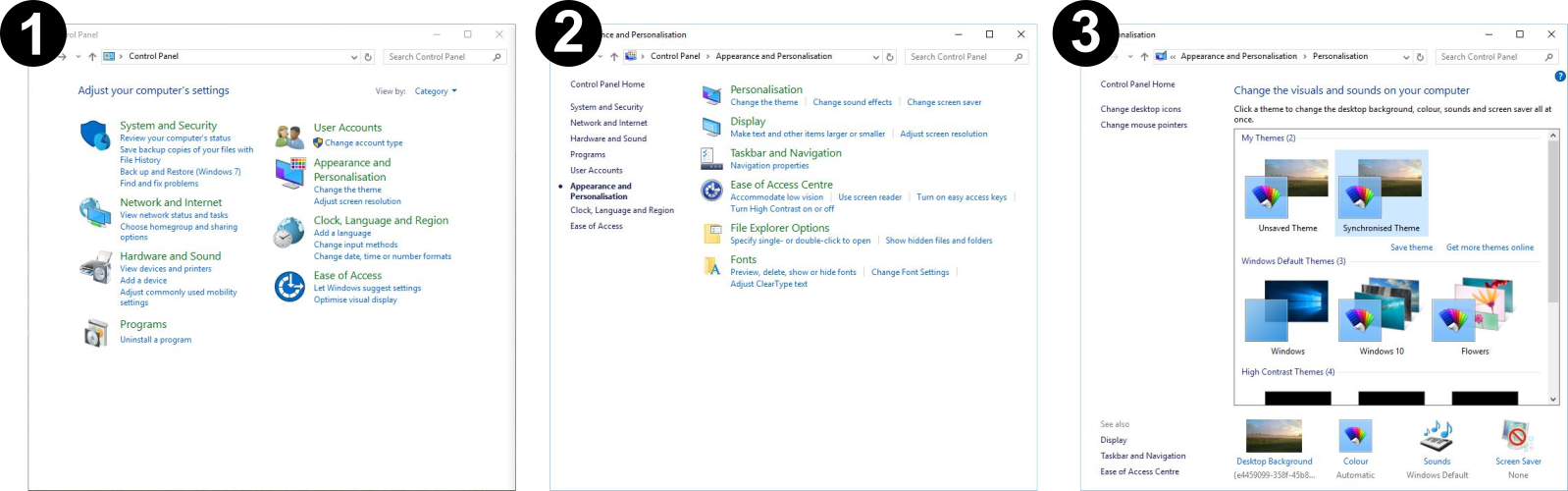 The Old System From Windows 7 Retained In 10 Below Is Complete And Familiar But It Too Detailed To Be Used By Touch Not Scalable